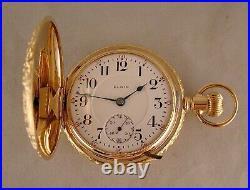 109 YEARS OLD ELGIN G. M. WHEELER 17j 14k GOLD FILLED HUNTER CASE 18s POCKET WATCH
