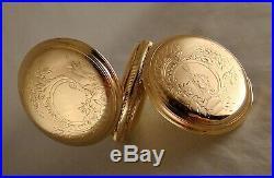 125 YEARS OLD HAMILTON 931 16j 14k GOLD FILLED HUNTER CASE 18s POCKET WATCH