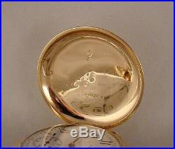127 YEARS OLD ELGIN 14k GOLD FILLED BOX HINGE HUNTER CASE 16sGREAT POCKET WATCH