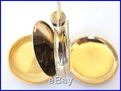 14K Solid Gold ELGIN Lady Pocket Watch, Hunter Case, 31 Grams, SEV'D & RUN
