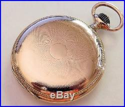 14k Gold Dürrstein Union Lange Glashutte High Grade Hunter Case Pocket Watch