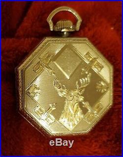 14k White Gold 20g 12s Illinois Elgin Pocket Watch Case
