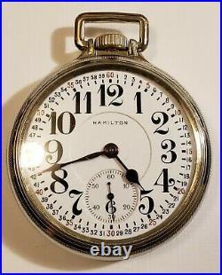 16S Hamilton 19J. Adj 996 Montgomery dial 14K W. G. F. Hamilton model 5 case 1916