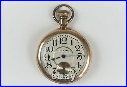 16S Hampden Grade 108 Pocket Watch 17J GF Open Face Case Runs