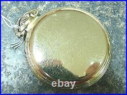16S Illinois Bunn Special 21j 60hr Pocket Watch Runs FINE Bunn S. Case