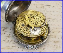 1700s Pair Cased VERGE Fusee British Antique Pocket Watch JAMES MARKWICK