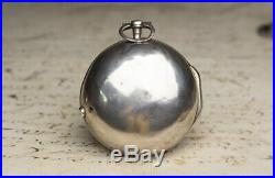 1710s Pair Cased Verge Fusee British Antique Pocket Watch by HENRY MASSY