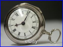 1742 London. A Charles. Silver Pair Case Verge Fusee Pocket Watch