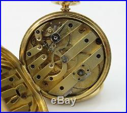 1800s A. Perrenoud Swiss 18K Yellow Gold Hunting Case Key Wind Pocket Watch