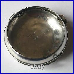 1818 Hallmarked Sterling Silver Verge Fusee Antique Pair Cased Pocket Watch Case