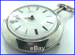 1831 Working W Guest of Windsor Verge Fusee English Pair Case Pocket Watch