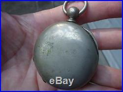 1860 CIVIL War Era American Waltham Ps Bartlett Pocket Watch Silveroid Case