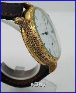 1869 A. LANGE & SOHNE GLASHUTTE 1A grade pocket watch movement + new case