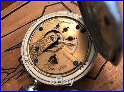 1871 Elgin B. W. Raymond 15j Key Wind Pocket Watch 18s Silveroid Case Railroad