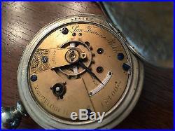 1872 Elgin San Francisco MD Ogden 15j Key Wind Pocket Watch 18s Oresilver Case