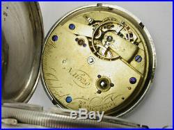 1873 Silver Benjamin Chadwick Chronometer Hunter's Case Needs Detent Spring