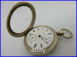 1878 Elgin Open Face Pocket Watch, With Silveroid Case #pw11