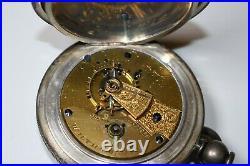1880 WALTHAM Coin Silver Hunter Case 15 Jewel S18 Pocket Watch Key Wind