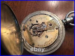1881 WALTHAM Appleton Tracy Model 1877 POCKET WATCH 18s Dueber Case Running