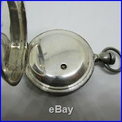 1882 Waltham Broadway Key Wind KW Pocket Watch 4oz Sterling Hunter Case 6.24oz