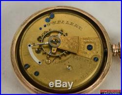 1883 Waltham 15J 18s Wm Ellery Mod 1879 Early CWCCo Case Pocket Watch Keeps Time