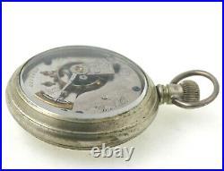 1887 Elgin 18 Size Pocket Watch Wheeler Model With Salesmans Sample Case