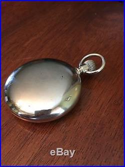 1887 Elgin 18s B. W. Raymond 15j True Railroad Grade Pocket Watch Keystone Case