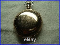 1887 SUPER CLEAN ROCKFORD 18S gold filled BOX HINGE HUNTER CASE pocket watch