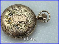 1898 Elgin 14K Solid Gold 53.8gr Grade 133 MULTI COLOR CASE Hunter Pocket RUNS
