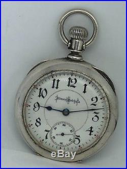 1899 ILLINOIS BUNN Special 18S RR Gr 24J Dueber COIN Silver Case Pocket Watch