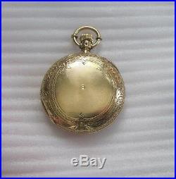 18K Gold Hunter case Waltham Crescent Street 1870 15j 159 gr. $3350 scrap