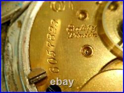 18SZ Elgin Pocket Watch in 1/2 Hunters Case- + Fob 7J Serviced, Keeps Time