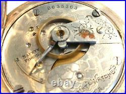 18SZ Elgin Pocket Watch in 25yr Gold Filled Hunters Case -7J -Serviced, Runs Good