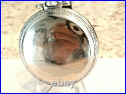 18SZ Rockford Pocket Watch in Nice Case- + Fob 9 J Serviced, Keeps Time -1893