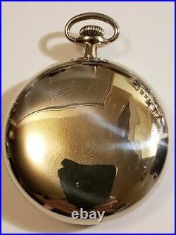 18S Hamilton 17J. Adj. Grade 936 Railroad Pocket Watch (1920) silveroid case