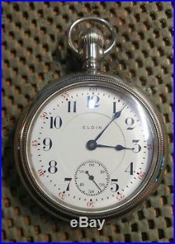 18s 19j Elgin Bw Raymond Rr Pocket Watch In A Very Nice Display Case