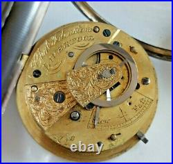 18s Charles Johnstone, Liverpool, Fusee Pocket Watch, pre-1900, Sterling OF Case