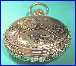 18s Gold-filled hunting case made by the CRESCENT WATCH CASE CO