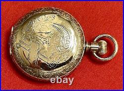 1900 Elgin 18S Model 4 15j Hunting Pocket Watch Gold-Filled Case Works