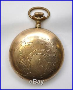1903 American Waltham 18s Gold-Filled Case Pocket 17j Watch Model 1883 Running