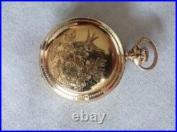 1904 Lady Elgin 320 0s VERY NICE HAND ENGRAVED CASE Pocket Watch A