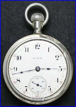 1905 Elgin Grade 288 18s 7j Pocket Watch with OF Case Vintage Runs