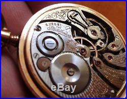 1910 South Bend Studebaker Pocket Watch, 21 J. Fahy's 14k Gold-filled Case