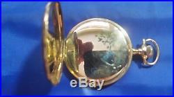 1911 Antique Elgin 17j 16s Pocket Watch 14K Gold Case