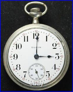 1913 Elgin Grade 317 18s 15j Pocket Watch with OF Case Parts/Repair