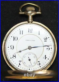 1914 Hamilton Grade 956 16s 17j Pocket Watch GF Swing-Out Case Parts/Repair