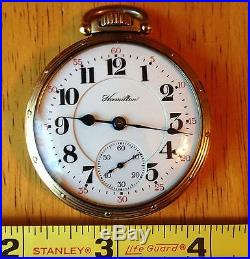 1918 Hamilton 950 Pocket Watch, 23 Jewels. Hamilton 10k Gold-filled Case