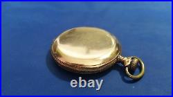 1920 Antique Illinois Santa Fe Pocket Watch 21j 12s Hunter GF Case