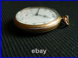 1921Vintage 12s OMEGA Pocket Watch 17j Running Gold plated Case