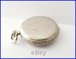 1921 Illinois 17 Jewels Size 12s Pocket Watch 14k White Gold Filled Case Runs